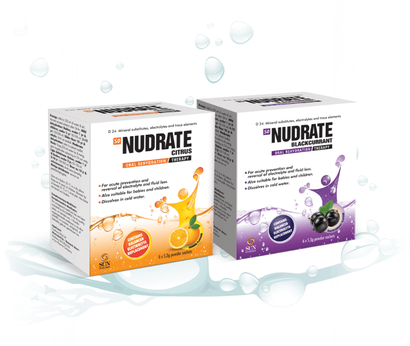 Nudrate - For relief from Rehydration, Dehydration, Diarrhoea and Vomiting